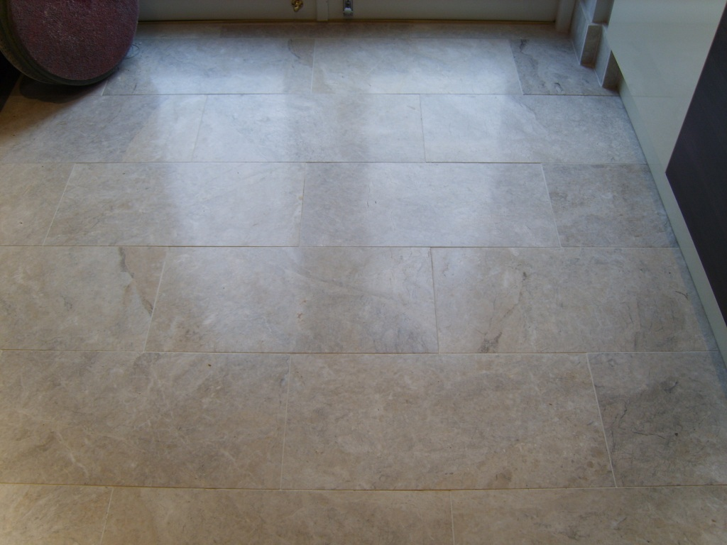 Mrs Bass Marble Floor Before Polishing