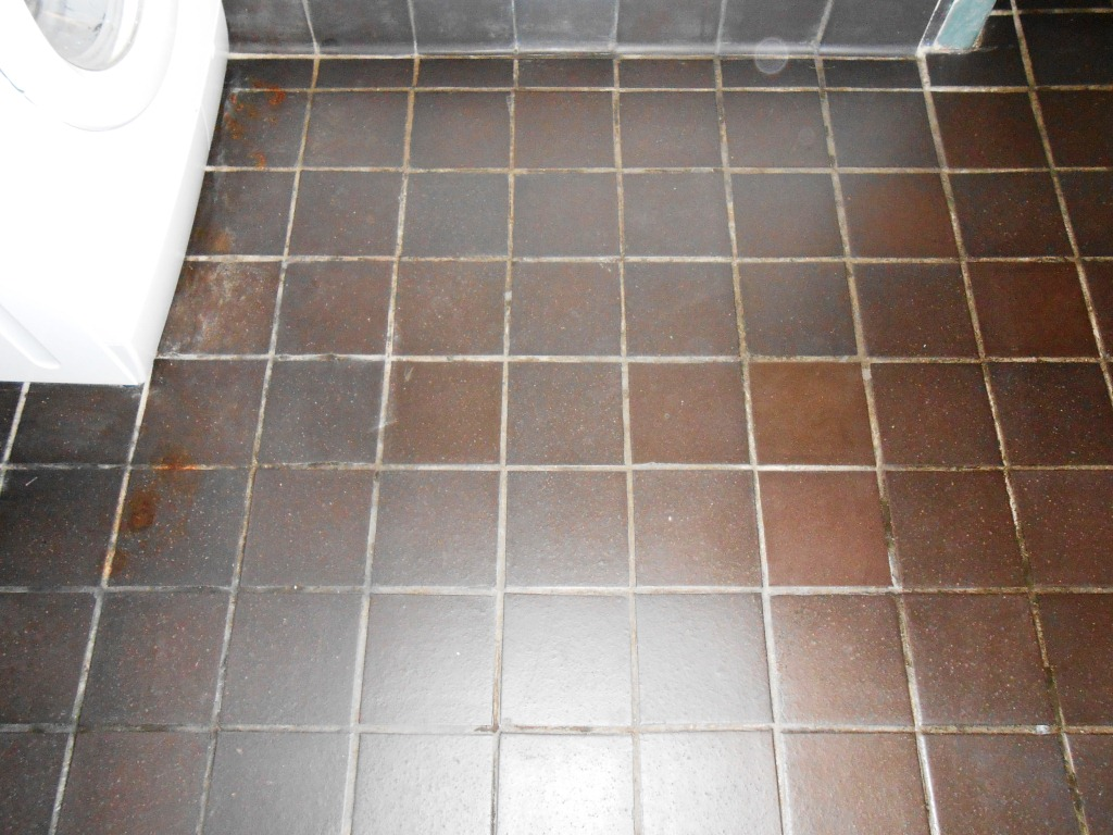 Black Quarry Tiles After