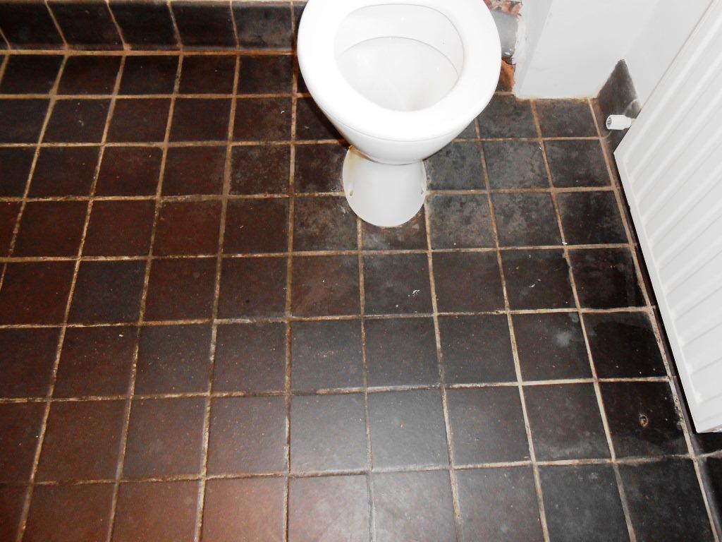 Black Quarry Tiles Before
