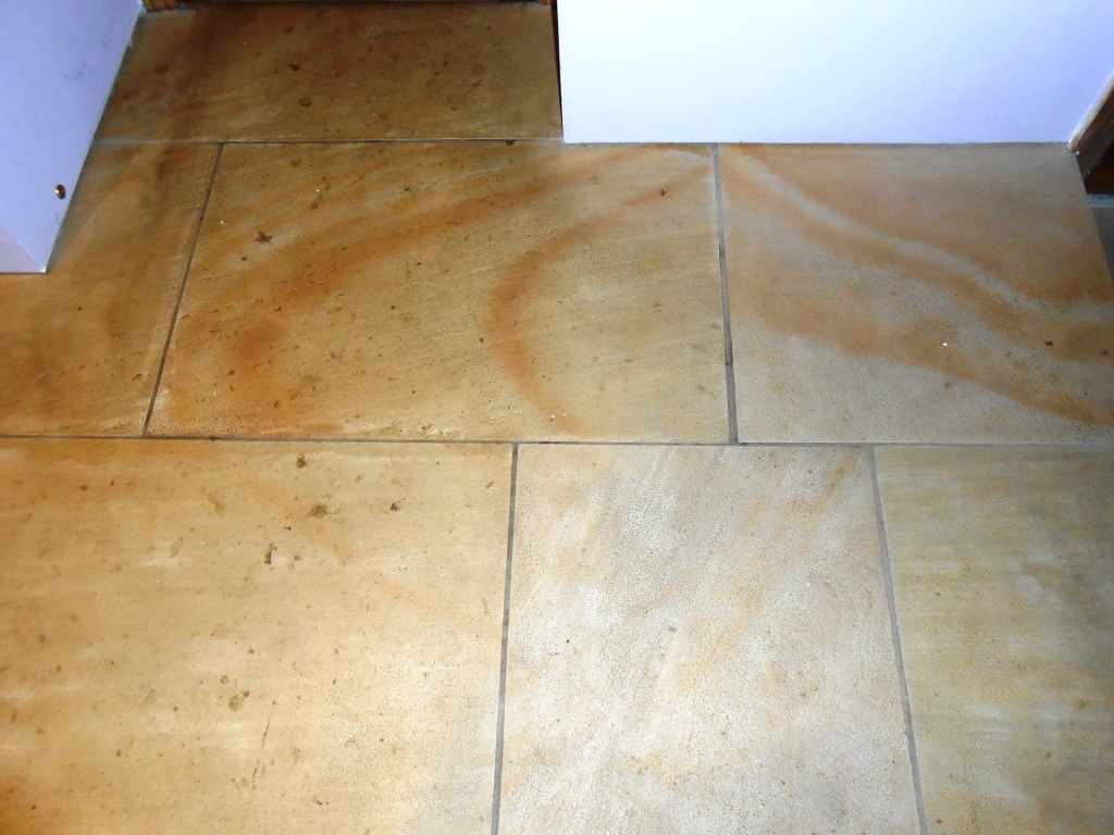 Sandstone Floor Lancaster Before Milling