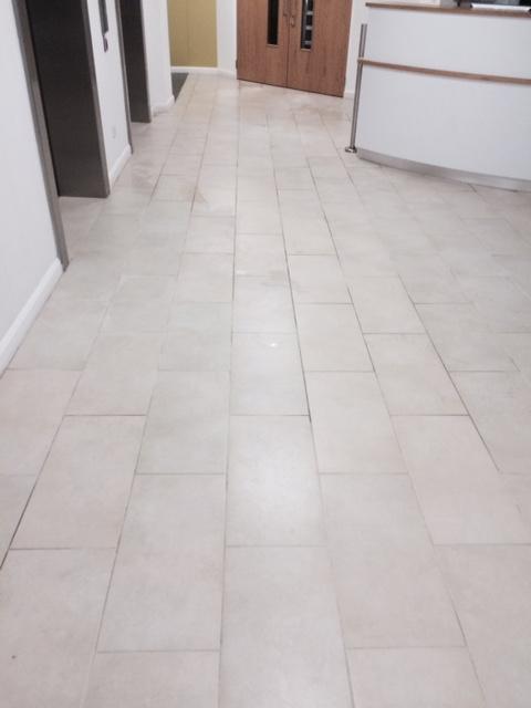 Applying Anti-Slip Treatment to Ceramic tiles in Lancaster Before