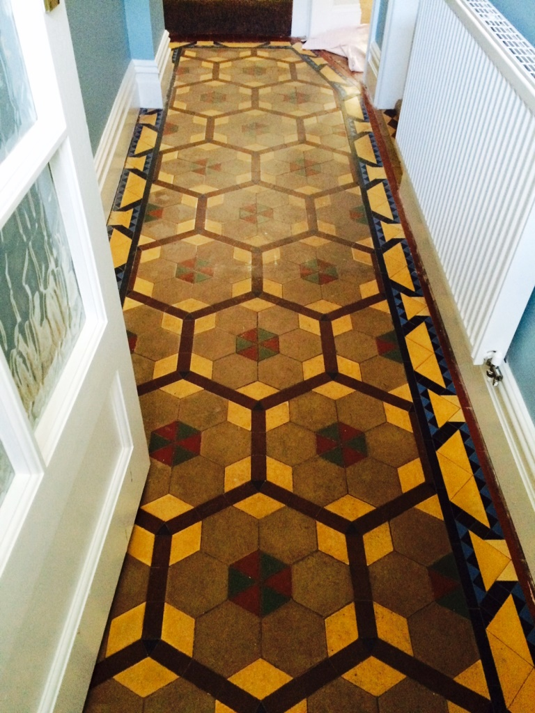 Victorian Tile Restoration Ribchester Before Cleaning