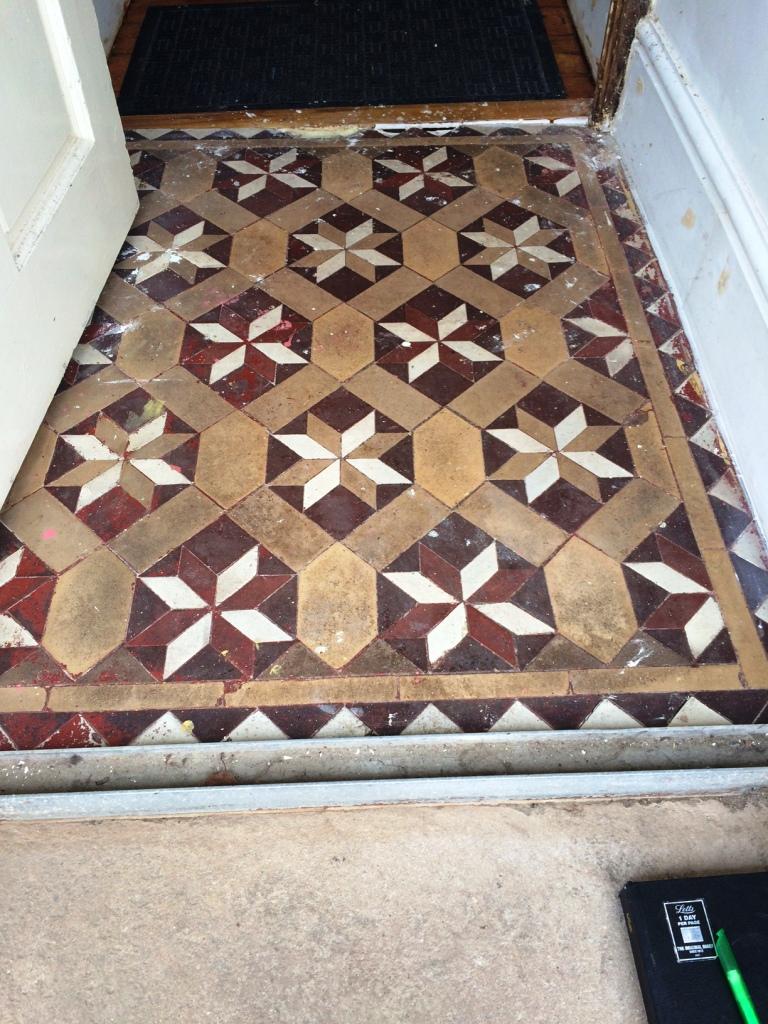 Victorian Floor Vestibule Lancaster Before