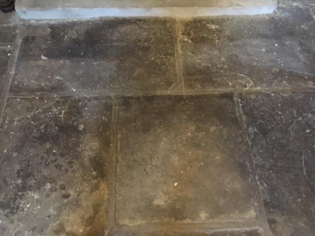 Flagstone Floor Before Milling Haslingdon