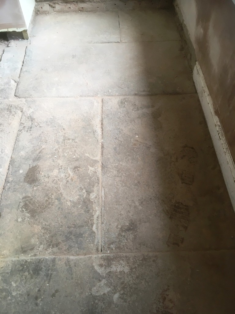 Flagstone Floor Before Restoration Great Harwood