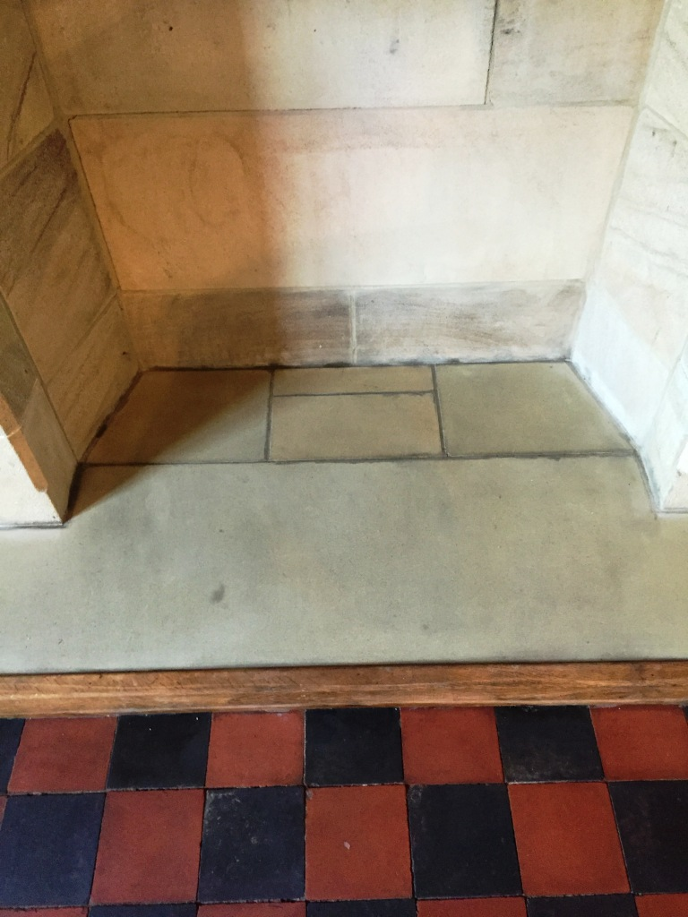 Sandstone Fireplace Preston After Cleaning
