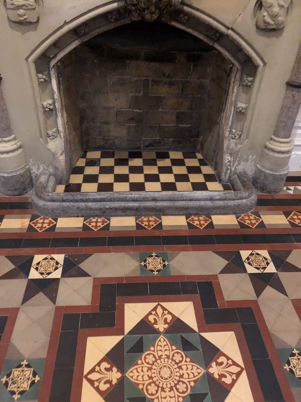 Victorian Tiled Stone Cross Manor Hall After Restoration