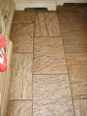Oyster Quartzite Tiles before Cleaning by Tile Doctor Lancashire