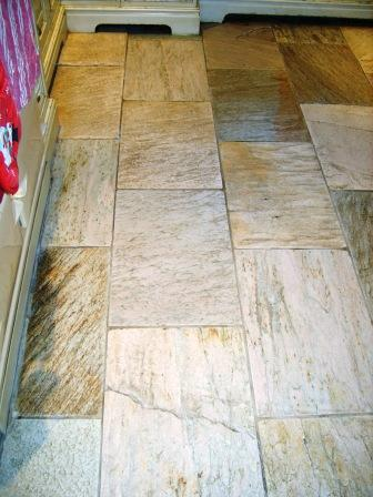 Oyster Quartzite Tiles After Cleaning by the Lancashire Tile Doctor