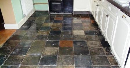 Kitchen Slate Floor After Restoration