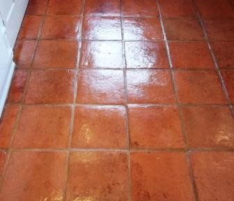 Terracotta Floor Cleaned and Sealed