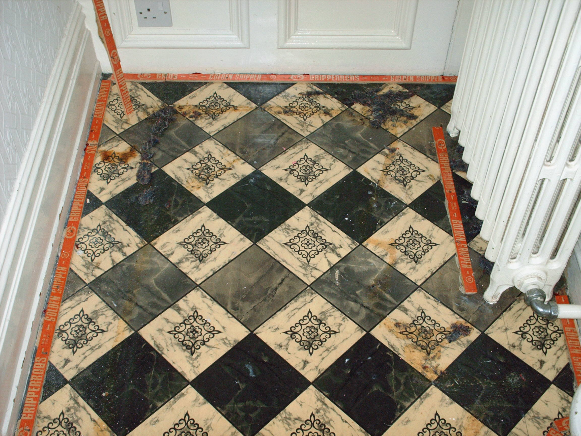 Victorian floor restoration tile cleaners tile cleaning victorian floor covered in carpet and lino doublecrazyfo Gallery