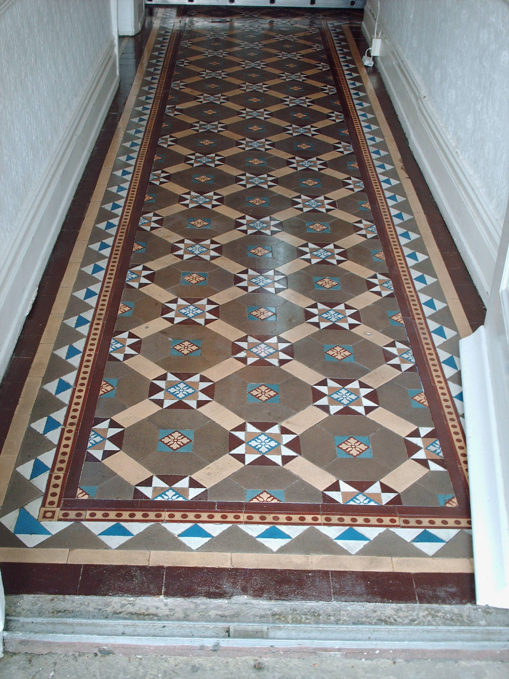 Victorian floor restoration tile cleaners tile cleaning restored victorian floor doublecrazyfo Gallery