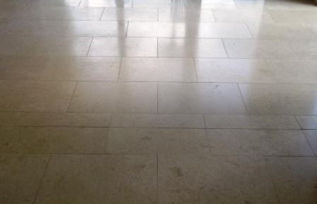 Jerusalem Limestone Floor in Whalley, Lancashire