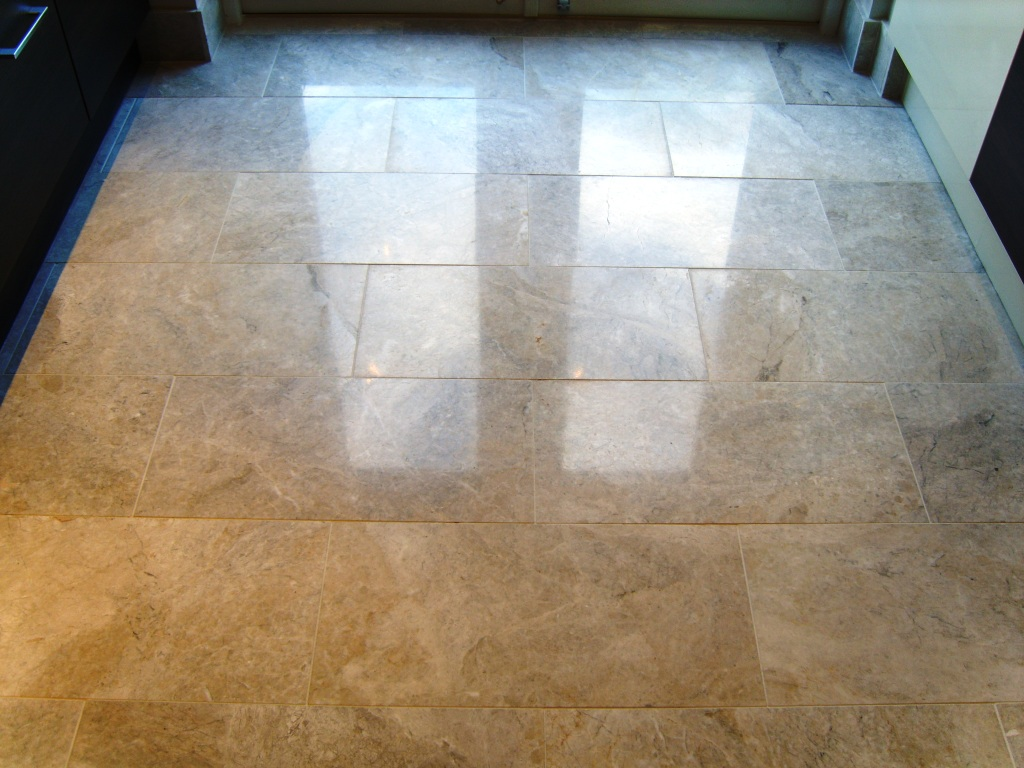 Mrs Bass Marble Floor After Polishing
