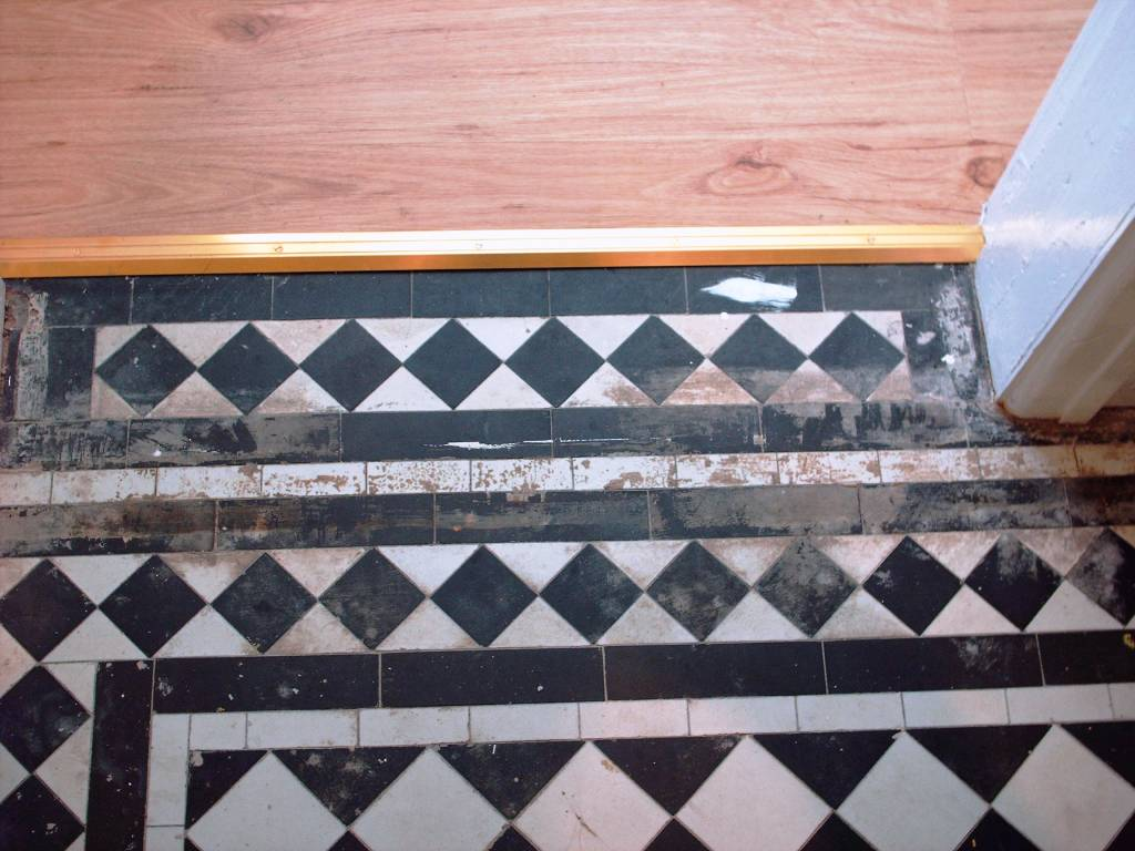 Victorian Tiled Floor Before