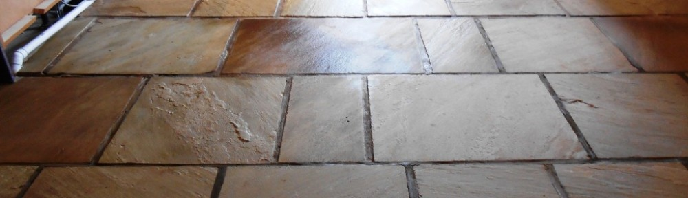 Sandstone floor maintained in Stodday, Lancashire