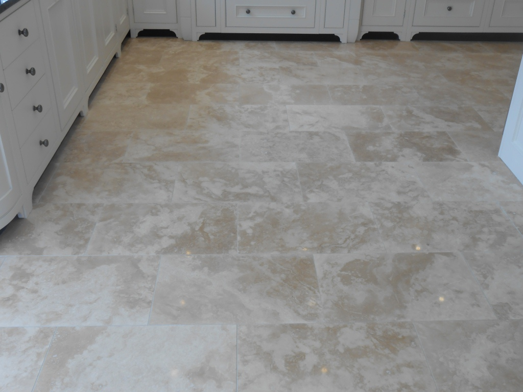 Resolving Honed Travertine Tiled Floor Installation Problems In Lancashire Tile Doctor Lancashire