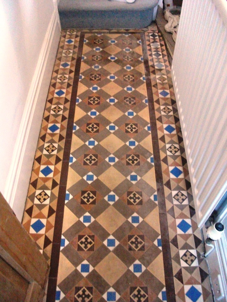 Victorian Tiled Floor Cleaned And Sealed In Southport