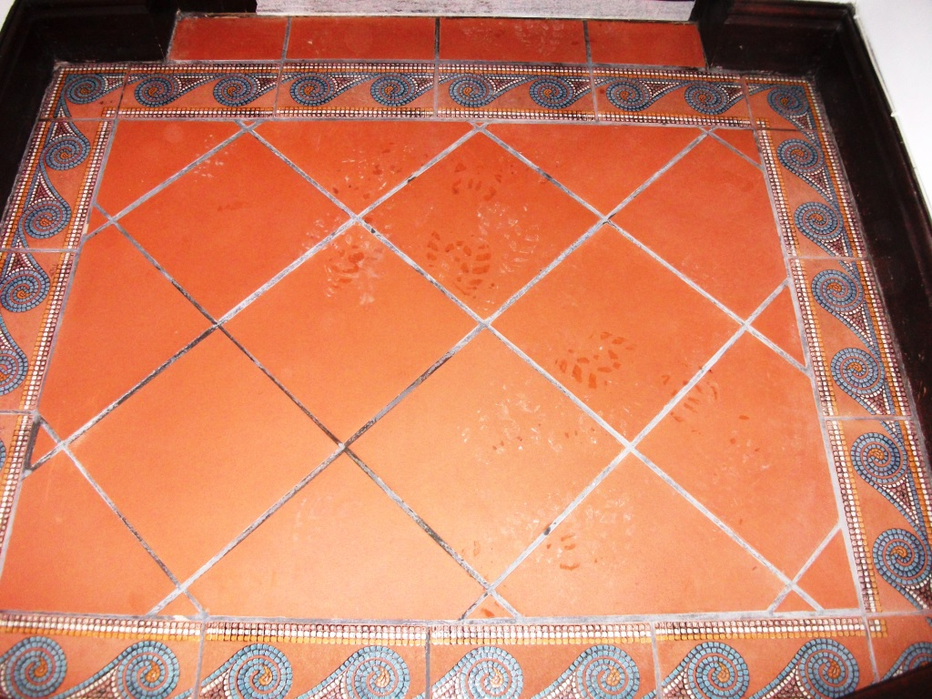 Varnished Quarry Tiles Cleaning Formby After Cleaning