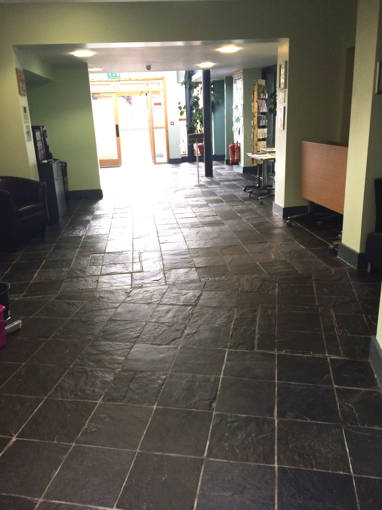 Rough Black Slate Millom After Cleaning