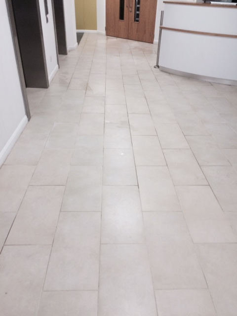 Applying Anti-Slip Treatment to Ceramic tiles in Lancaster Before