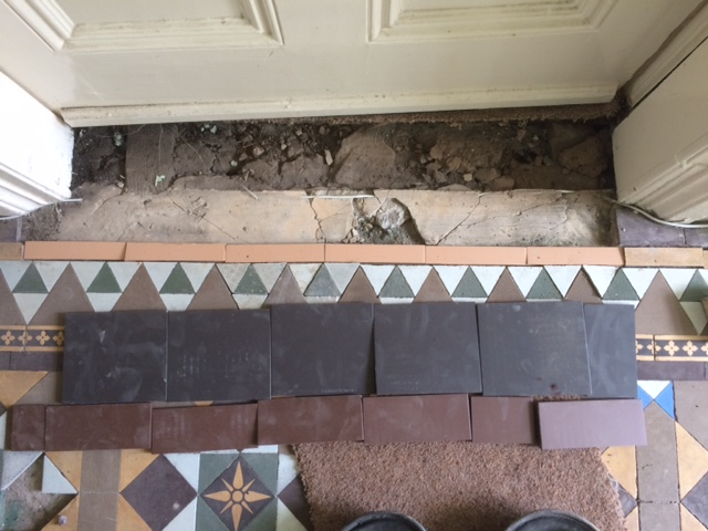 Victorian Tile Lippage Turton Before