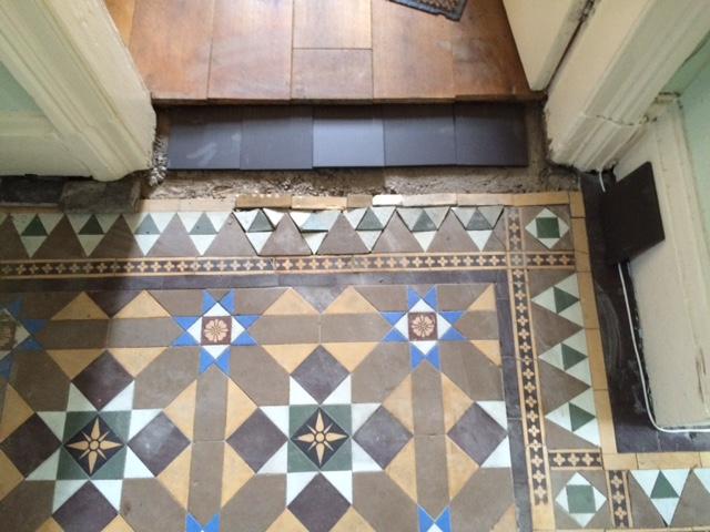 Victorian Tile Lippage Turton Before
