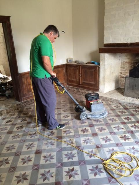 Cleaning Encaustic Tiles in France