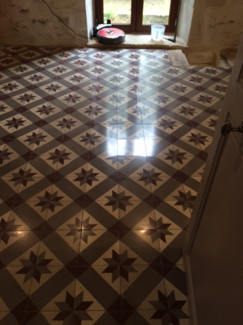 Encaustic Cement-Tiles After Cleaning at the French Chateaux Reims