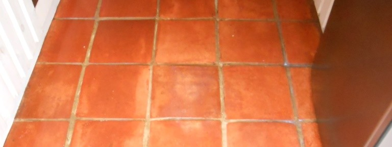 Badly Neglected Terracotta Tiled Floor Restored in Fulwood
