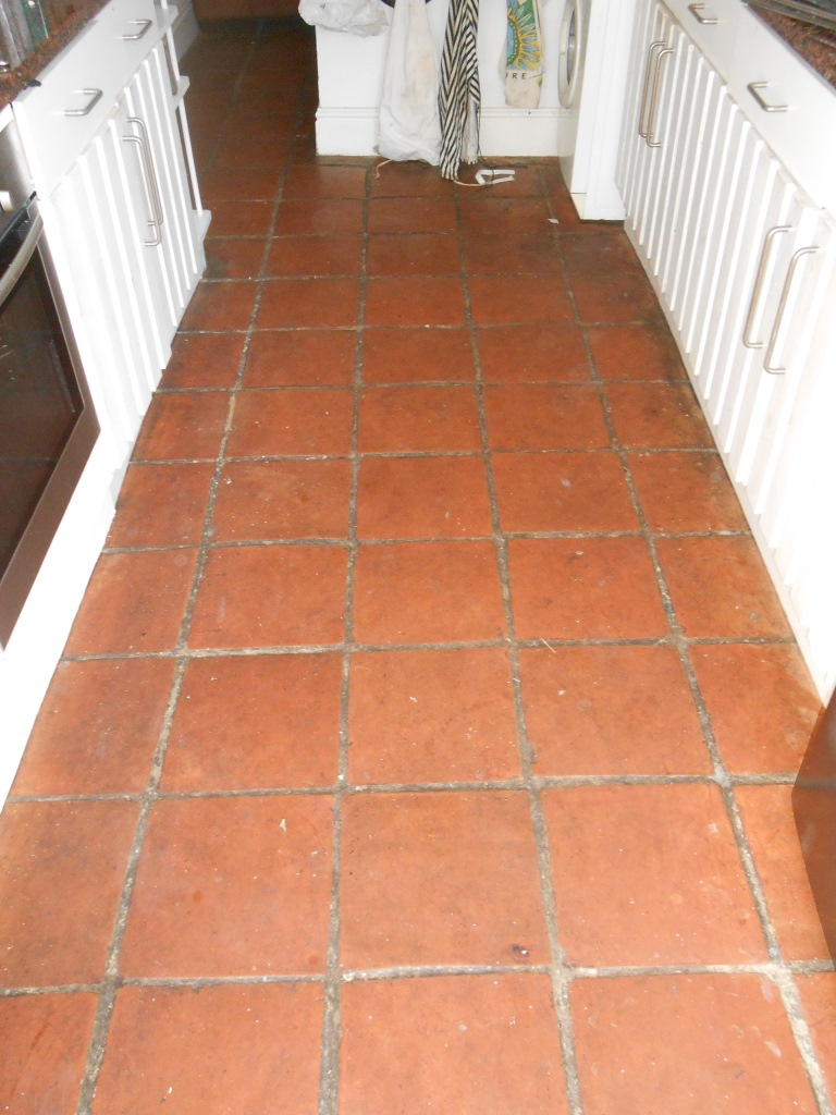 Terracotta Floor Before Cleaning Fullwood