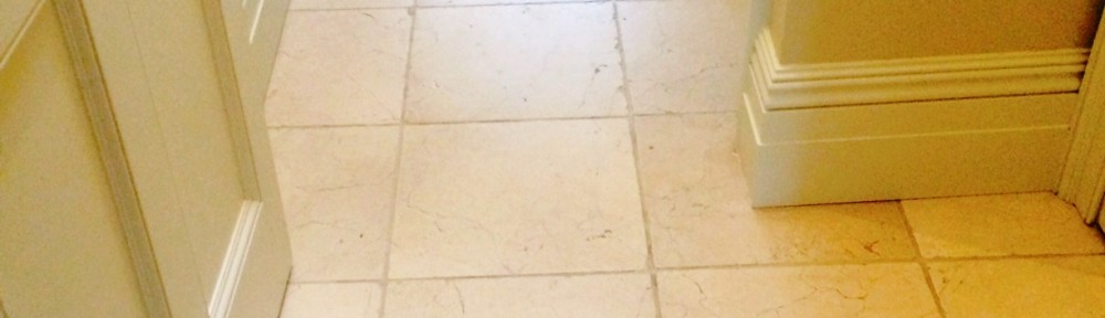 Flood Damaged Jura Limestone Floor Restored in Kirkby Lonsdale