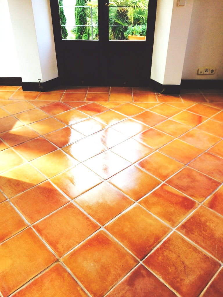 Terracotta Tiled Floor Mallorca After Sealing