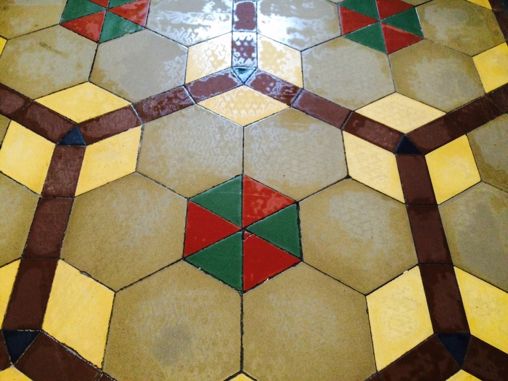 Victorian Tile Restoration Ribchester During Cleaning