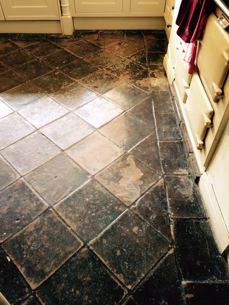 Terracotta Hallway Tiles Restored In Cheshire Stone Cleaning And Polishing Tips For Terracotta