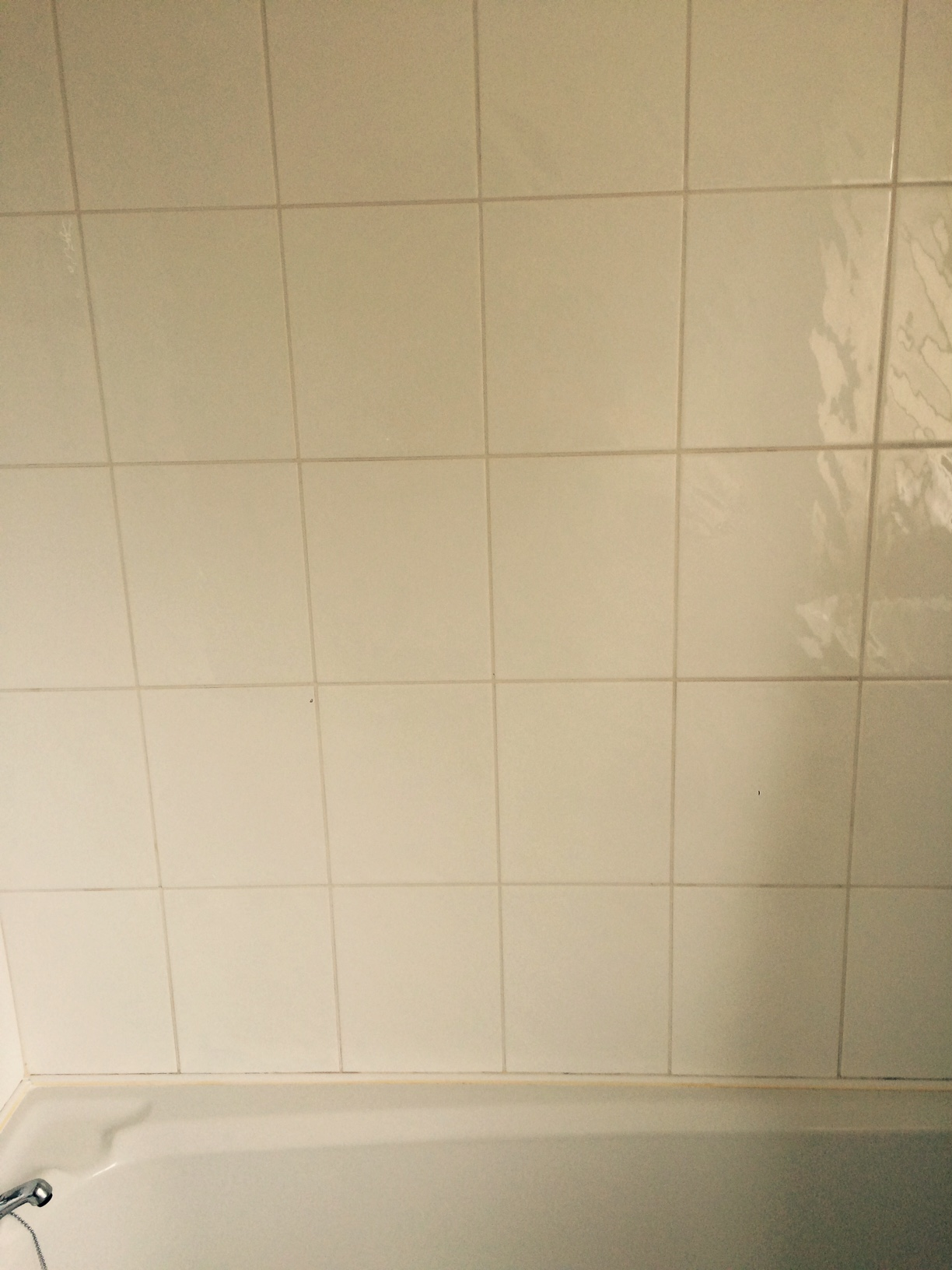 Ceramic Bathroom Tile and Grout Cleaned with Mould Away in Galgate