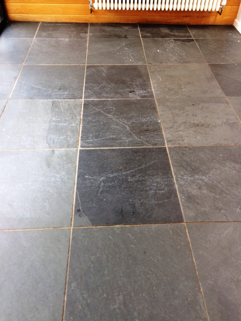 Getting the best our of black brazilian slate tiles stone brazilian black slate before cleaning thornton cleveleys dailygadgetfo Image collections
