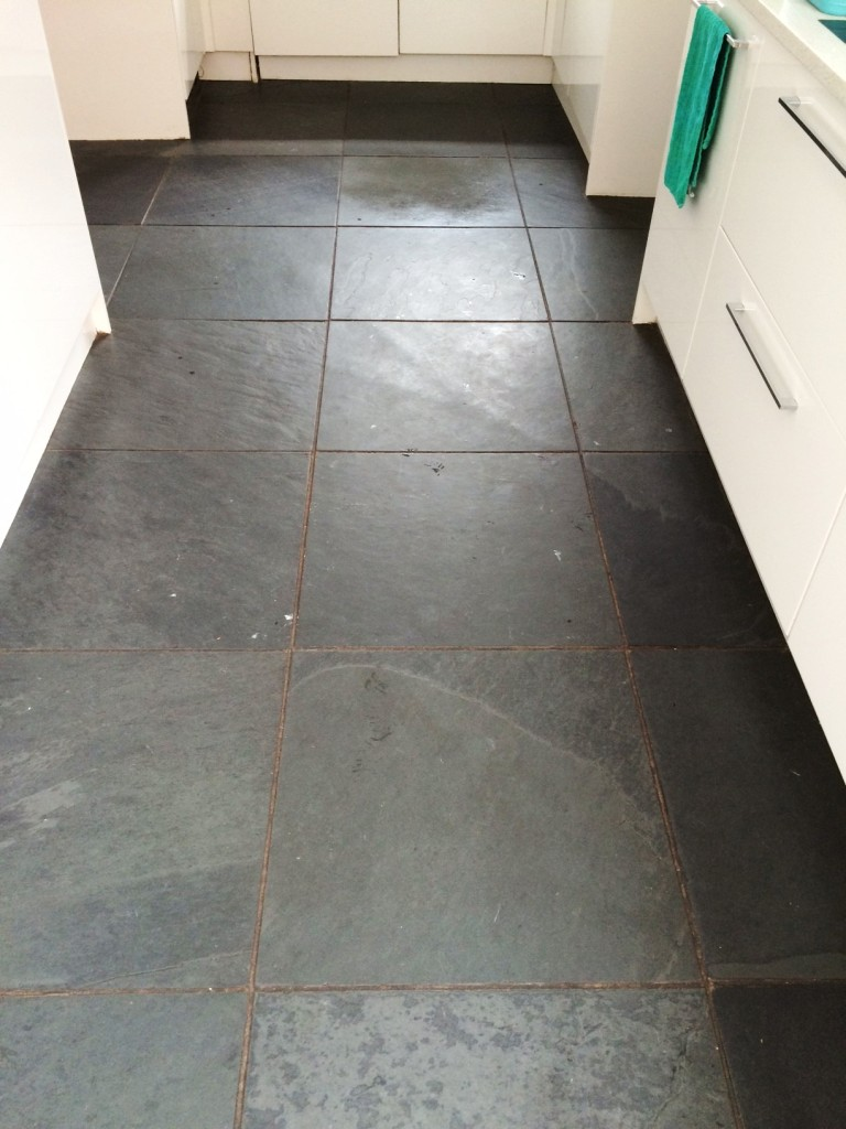 Fantastic Black Brazilian Slate Tiles Rejuvenated In
