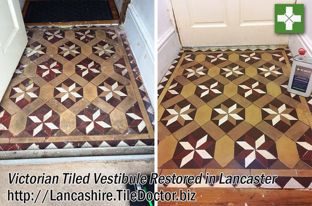 Victorian Tiled Vestibule Restored in Lancaster