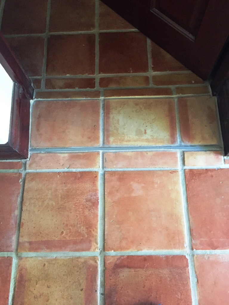 Terra Cotta Floor Tile Kitchen Expansion Cracks Repaired In Mexican Terracotta Floors Stone