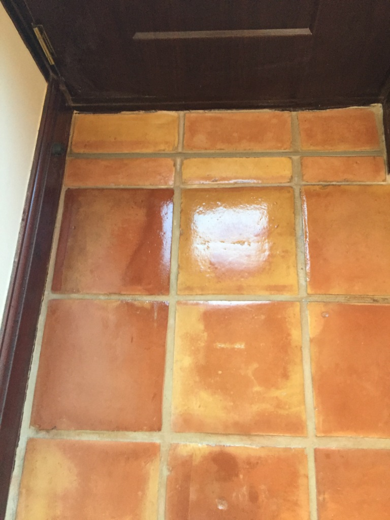 Mexican Terracotta Kitchen Floor Ormskirk After Repair and Cleaning