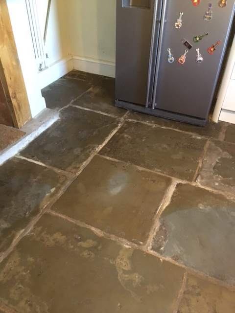 Flagstone Floor After Milling