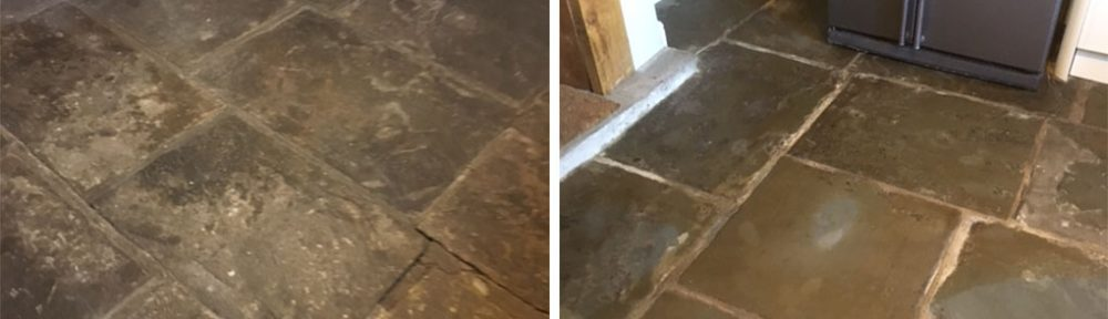 Milling and Sealing Uneven Flagstone Flooring in Haslingden