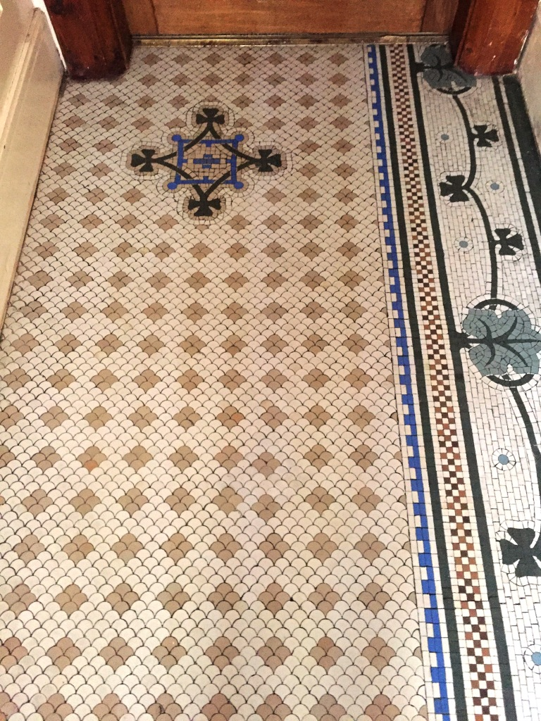 Original Victorian Tiled Floor After Cleaning