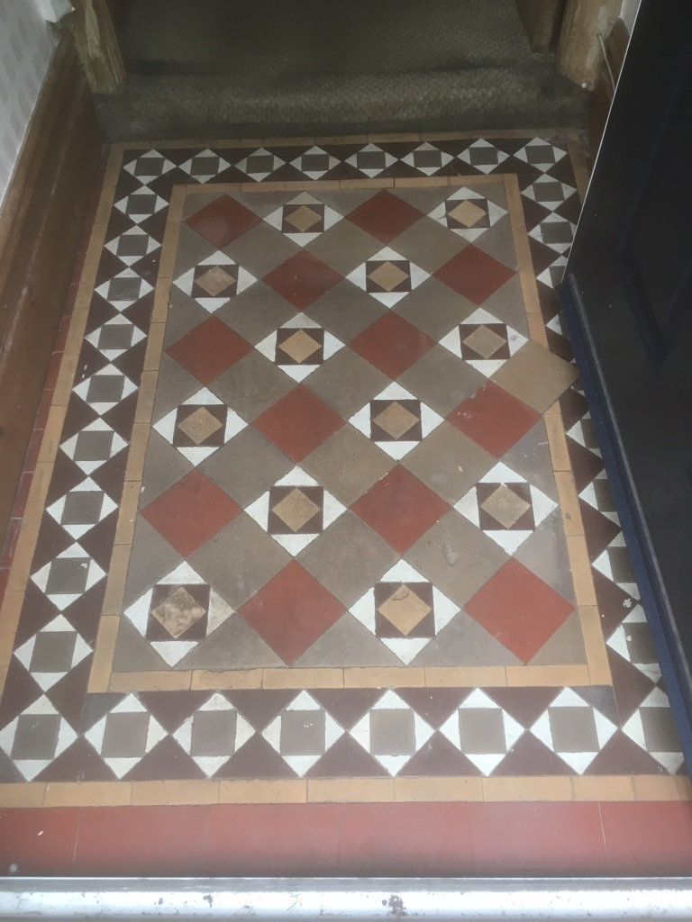 Edwardian tile repairs cleaning and maintenance advice for edwardian tiled floor before cleaning in lytham dailygadgetfo Image collections