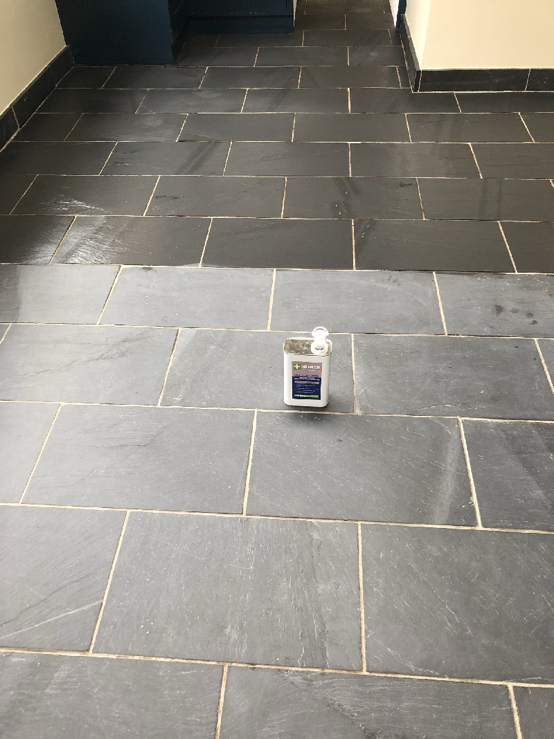 Slate Floor During Sealing High Bentham