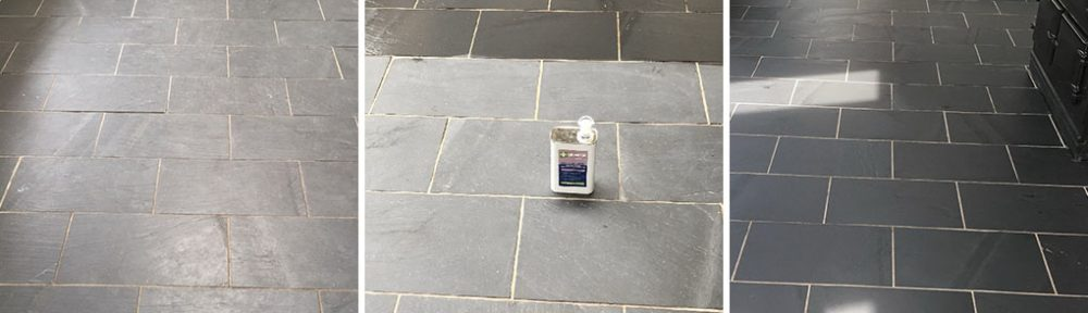 Dull Riven Black Slate Floor Transfored in High Bentham