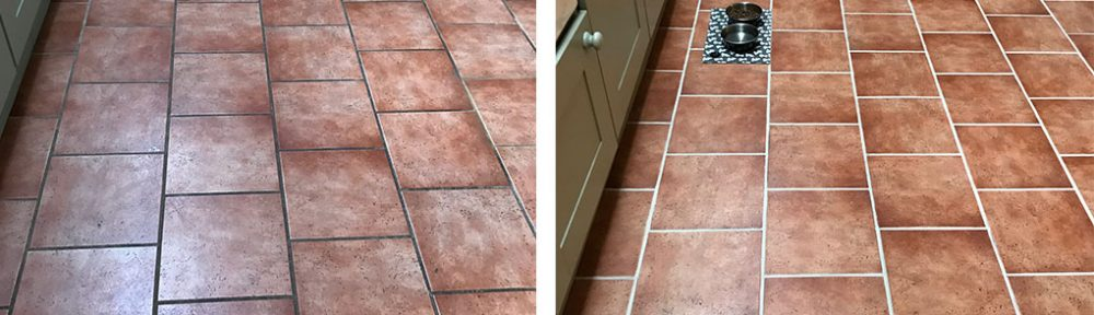 Grout Colour Restoration on a Ceramic Kitchen Floor Ulverston