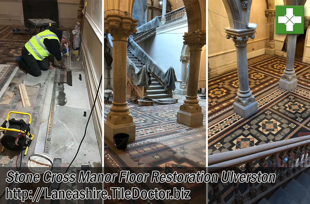 Stone Cross Manor Victorian Tiled Hall Restoration Ulverston